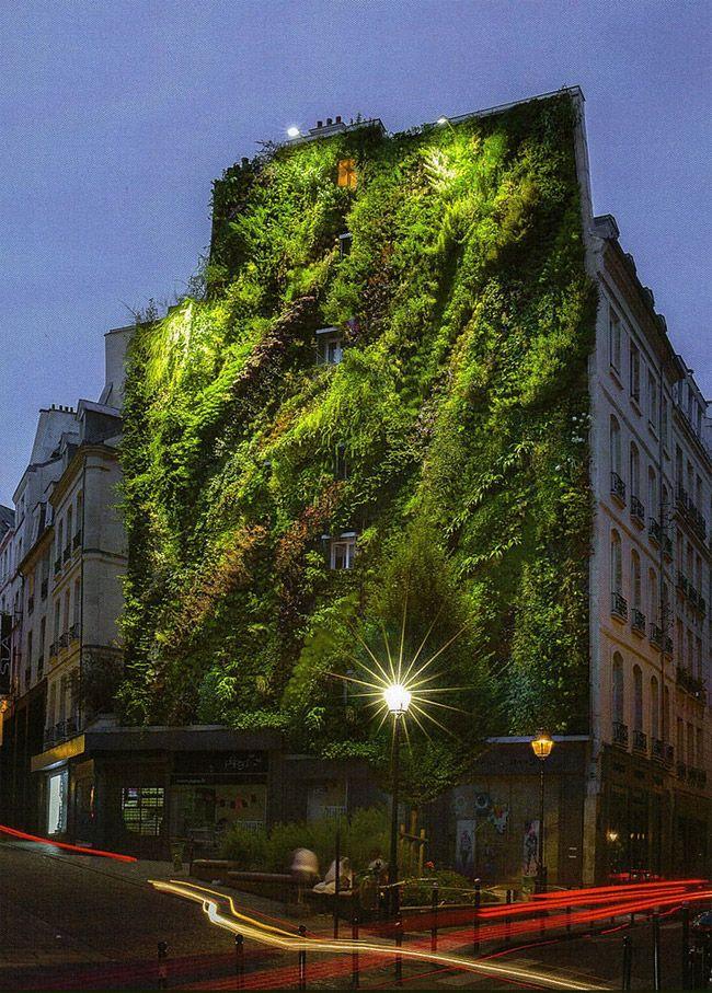 Vertical Garden By Patrick Blanc in Madrid, Spain