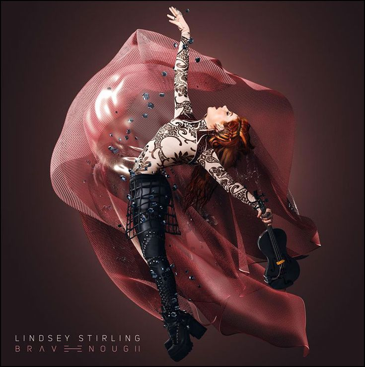 Album cover art for the latest record from Lindsey Stirling 'Brave Enough'.