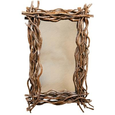 Hill country twig mirror... Could do with barbed wire too