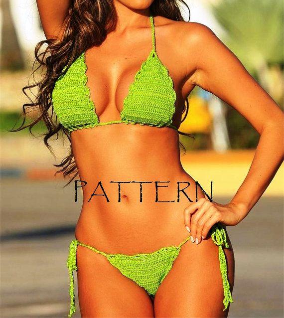CROCHET Bikini PATTERN. Crochet swimsuit pattern. by LittleNinni