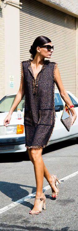 Giovanna Battaglia   dress look   street style
