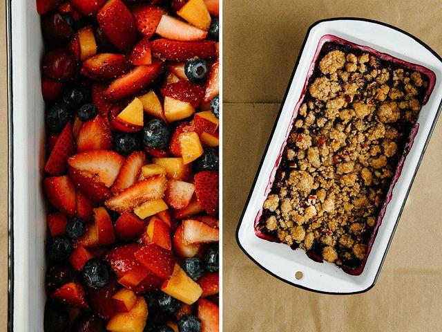 Summer fruit pecan crisp by Ashlae | oh, ladycakes, via Flickr