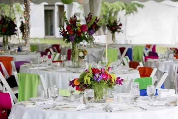 Brightly Colored Preppy Wedding - Preppy Wedding Style