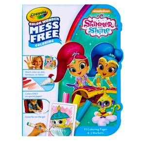 Kids can enjoy mess-free coloring fun anywhere and everywhere with the Crayola Color Wonder Color on the Go, Shimmer and Shine. Color Wonder markers are designed to only work on Crayola Color Wonder coloring pages, so they won't leave marks on skin, clothing, or surfaces. For ages 3 and up, this kit comes with 15 Shimmer and Shine mini coloring pages and three Color Wonder markers in a durable, portable case.<br><br>Bring Your Favorite Shimmer and Shine Characters to Col...