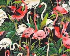 Pink and White Flamingos Fabric by Michael Miller -100% High Quality Cotton…