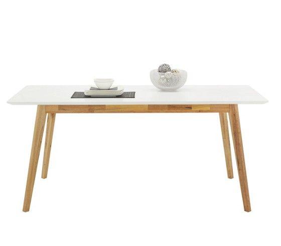 Étkezőasztal, MDF asztallap, olajozott fa lábak, max.40kg-ig terhelhető, Szé/Ma/Mé:180/76/90cm