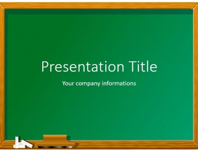 93 best powerpoint templates images on pinterest download free green chalkboard powerpoint template toneelgroepblik