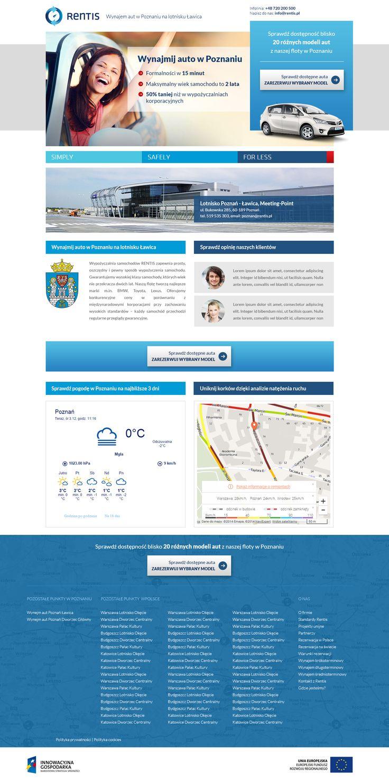 Rentis Landing Page Webdesign #webdesign #web #design #piotr #wolniewicz #portfolio #inspiration #landing #page #corporate