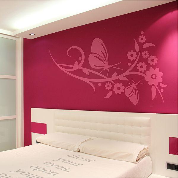 vinilo decorativo especial cabecero de cama con motivo