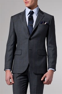 Vincero Charcoal Prince of Wales Suit
