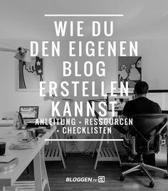 Deinen eigenen Blog erstellen. Anleitung, Ressourcen und Checklisten wie du einen eigenen Blog erstellen kannst. Mit dieser Anleitung klappt es garantiert.