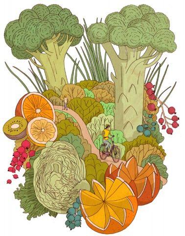 Illustration by Terhi Ekebom for Kotiliesi magazine, 2009