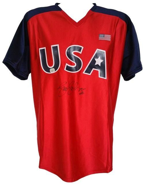 Jennie Finch Signed USA Softball Jersey USA Inscribed Fanatics+SI