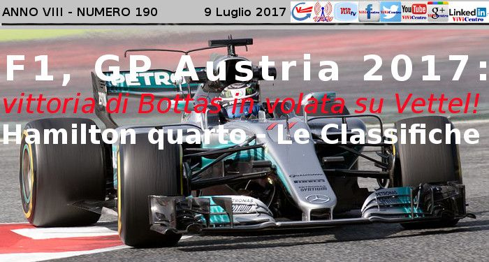 F1, GP Austria 2017: vittoria di Bottas in volata su Vettel! Hamilton quarto - Le Classifiche