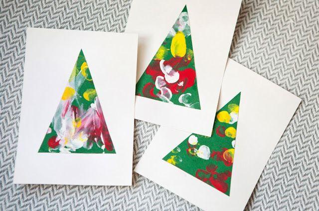 Joulukalenterin luukku11: Korttien askartelua lapsen kanssa