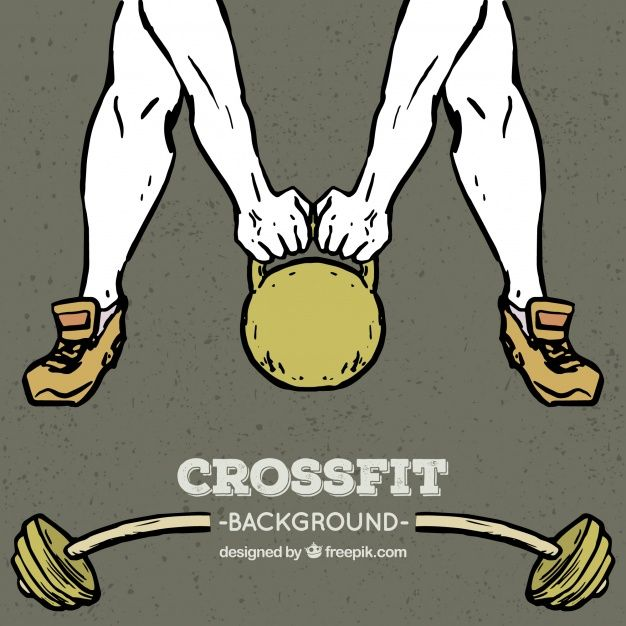 Lifting weight crossfit background Free Vector