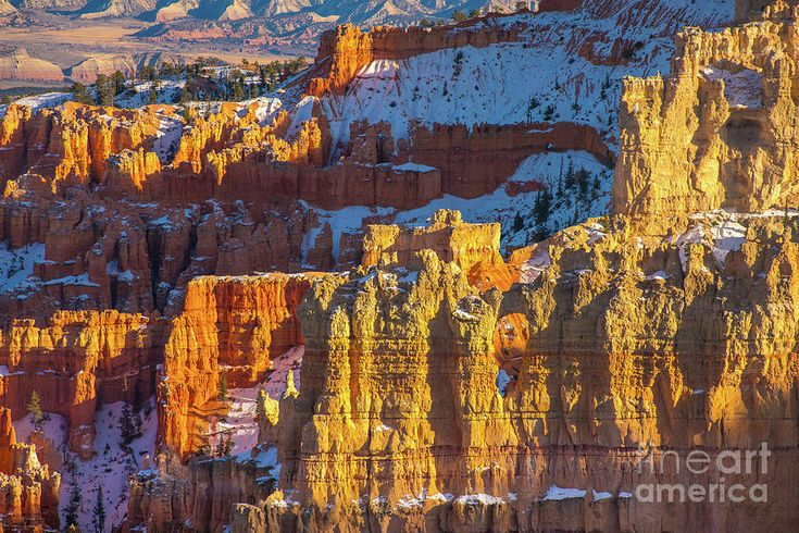 Photograph Bryce Canyon Early Winter Snow by Mike Reid