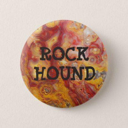 Crazy Lace Agate Rock Hound Pinback Button - pattern sample design template diy cyo customize