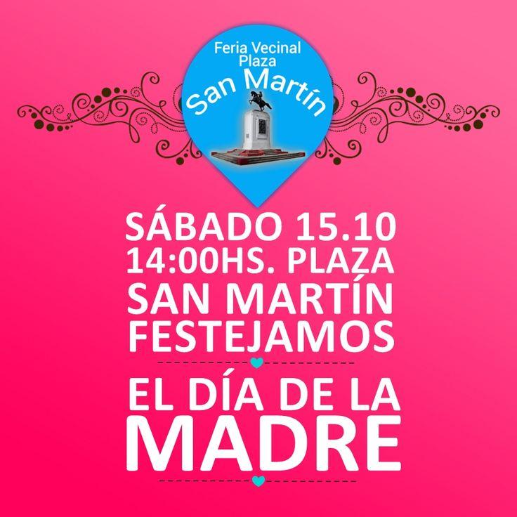 Este sábado 15.10 festejamos el día de la madre en la plaza. Te esperamos.  Mira los tableros de nuestros emprendedores ♥