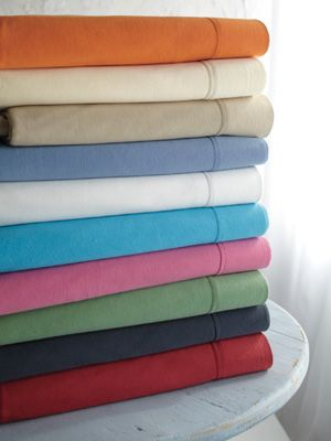 Made of strong cotton jersey knit, Garnett Hill's Solid Jersey Knit Bedding are super-soft and resisted shrinkage in our tests. They fit over a typical dorm bed with just enough room for a slim topper or mattress pad and come in a wide variety of colors to suit any dorm aesthetic.