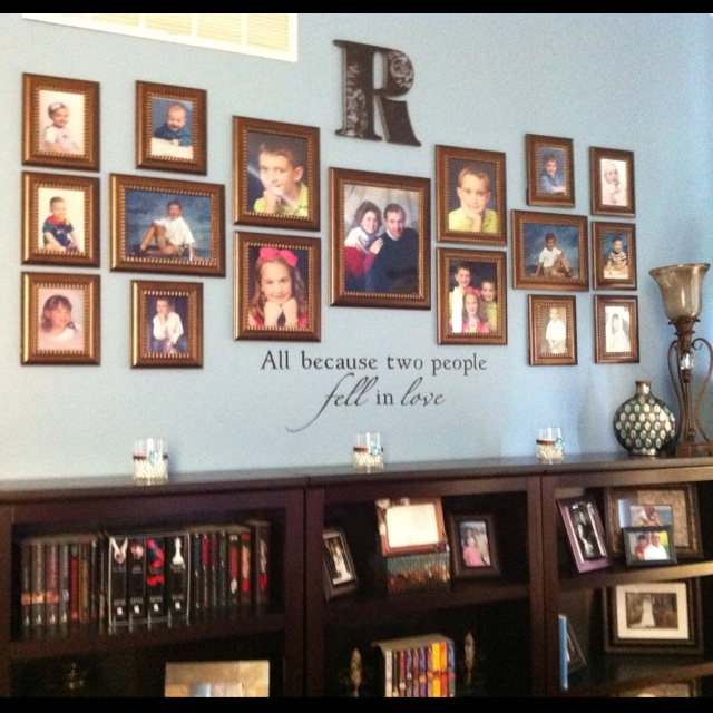 My Pinterest Inspired Photo Collage Wall Photo Wall