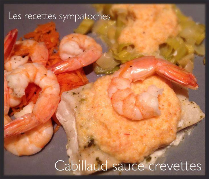 Hier soir au menu, j'ai réalisé une recette multicuisson : cabillaud sauce crevettes, poireau et carottes . Cette recette est ultra légère sans ajout de matières grasses . Ingrédients : cabillaud (ici surgelés) 4 morceaux crevettes :250g blanc de poireau...