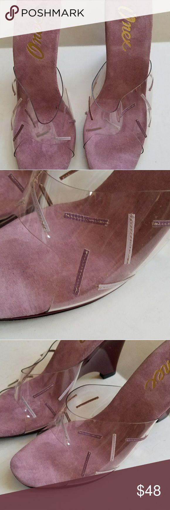 "Like new Onex peep toe slip on wedge heels sz 8 Gorgeous 3 1/2"" heel #e Onex Shoes Heels"