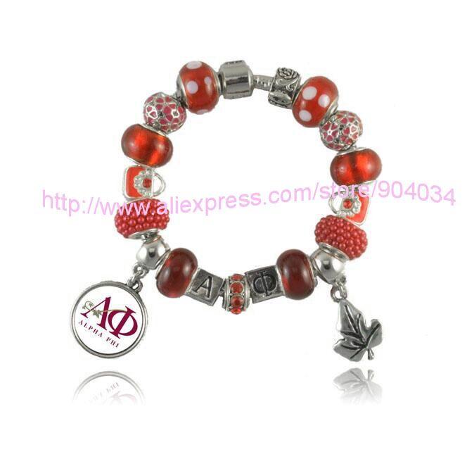 Альфа фи женского общества подвески бусины браслет греческий sorotiry на заказ браслет ювелирных изделий