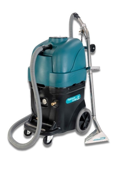 Truvox Hydromist 55 Carpet Extractor - Spray extractors ideal for large area carpet cleaning in conference centres, hotels and offices. Hydromist 55/400 is the professional's choice for those tough, large area carpet cleaning jobs. The combination of an in-line heater and variable spray injection up to 400psi gives fast and efficient removal of embedded dirt and stains, leaving carpets fresh and clean. http://www.janitorialdirect.co.uk/product/?pid=2855