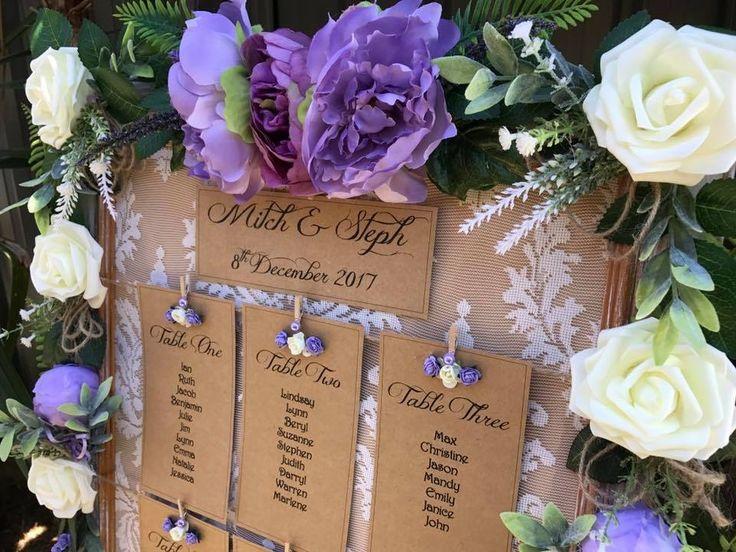 Lilac wedding, table seating plan