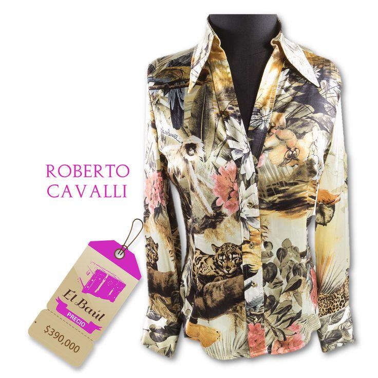 Blusa  Roberto Cavalli, de la linea de moda, exitosa en más de 50 países  390,000  http://elbaul.co/Productos/1445/Roberto-Cavalli-blusa-estampada-
