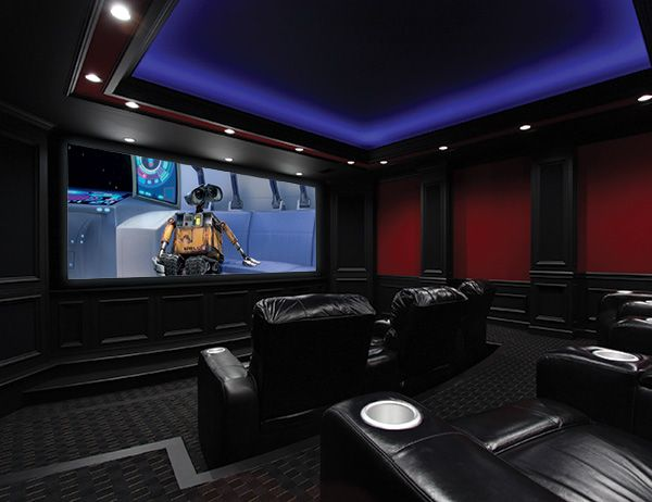 Home Theater Has Surround Sound, D BOX Motion Simulator, Starry  Hand Painted Ceiling Mural, And An Interactive Movie Poster!