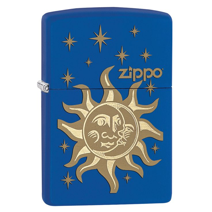 Blue Matte Finish; Solid Brass Body; Flint Ignition; Windproof Flame; Signature Zippo Click; with Lifetime Zippo Guarantee; Recommended Use of Zippo Lighter Fluid (ships empty); Comes Packaged in Envi