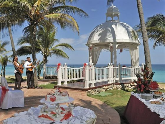 For the perfect picturesque wedding ceremony, marry under the Wedding gazebo at Melia Varadero
