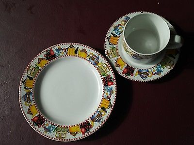 MARY ENGELBREIT Teapots Afternoon Tea Cup saucer and salad plate Sakura ME INK.