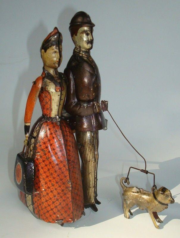 """*LEHMANN ~ """"Die Familie Lehmann"""" mit orig. Hund und orginaler Tasche, exzellenter Originalzustand, c. 1891"""