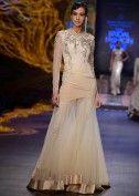 Models walk the ramp for designer Gaurav Gupta,s Night fall collection at Indian Bridal Week Nov 2013 at Mumbai 26