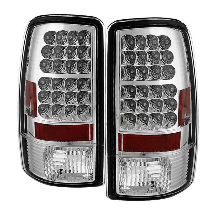 Spyder Tail Lights Gmc Yukon 00 06 Yukon Denali 01 06 Led Black Smoke Chrome Red Led Tail Lights Gmc Yukon Chevy Suburban