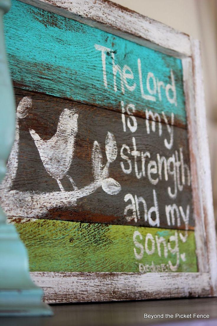 diy wooden art quote