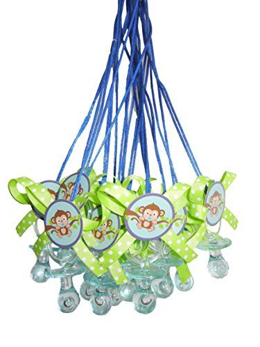 Sweet Safari Blue Monkey Baby Shower Pacifier Necklace Game Party Pack (12) Party Supplies http://www.amazon.com/dp/B011W5KUR4/ref=cm_sw_r_pi_dp_dVRbxb02Z0YE4