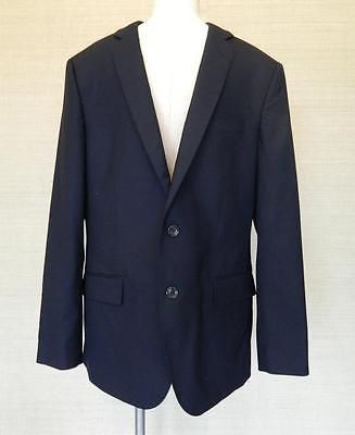JCrew Mens Italian Wool Ludlow 2 button Jacket 42R Deep Navy blue blazer SWAG