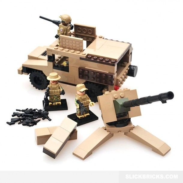 Military Hummer and Soldiers - Lego Compatible