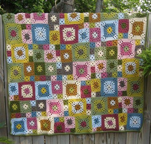 Crochet For Children: Garden Patch Granny Afghan - Free Pattern