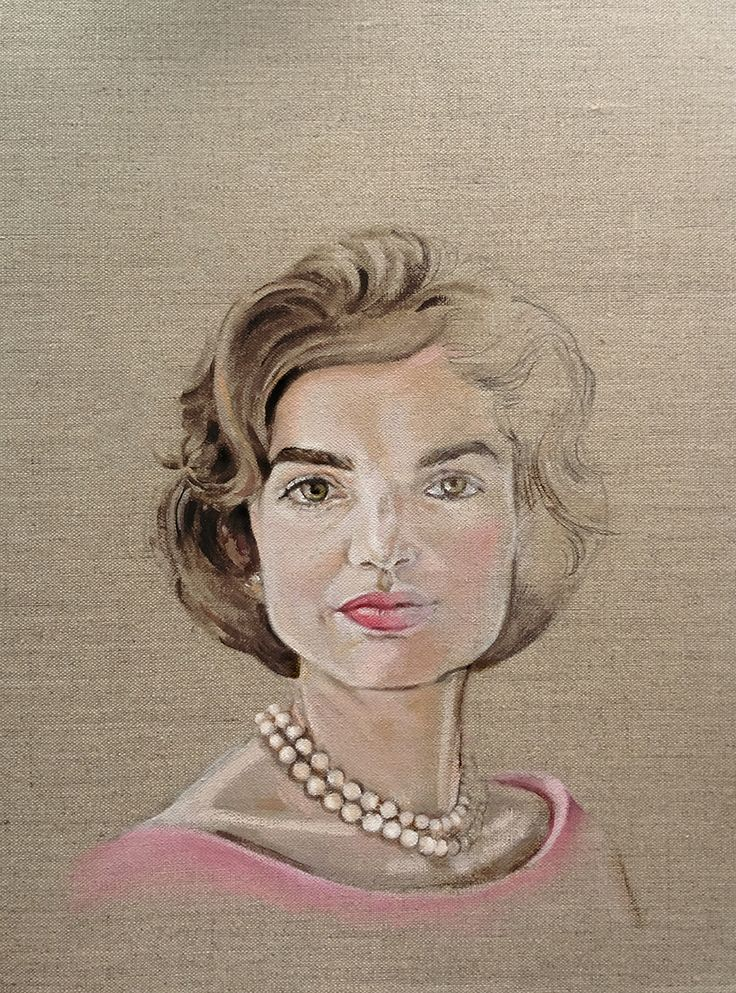 Jackie in pink and pearlsOriginal oil by Donna Chrstiewww.thesocietyofgoodeggs.com