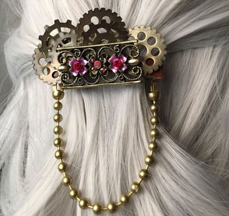 Victorian Bridal hair clip - Steampunk Gifts For Her