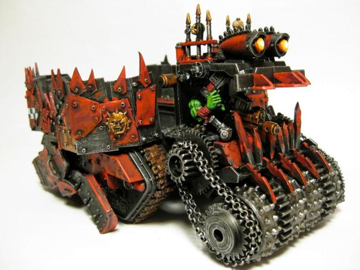 Ork Battlewagon Warhammer 40k Conversion. Really like that Deff Rolla.