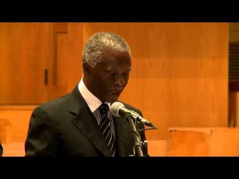 "Dr Thabo Mbeki - ""The potential of African students in light of the Arab..."