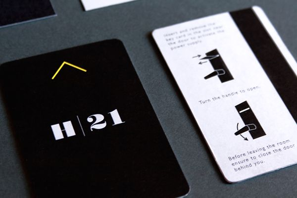Branding and graphic design for 'Hotel 21' by Nicola Di Tullio