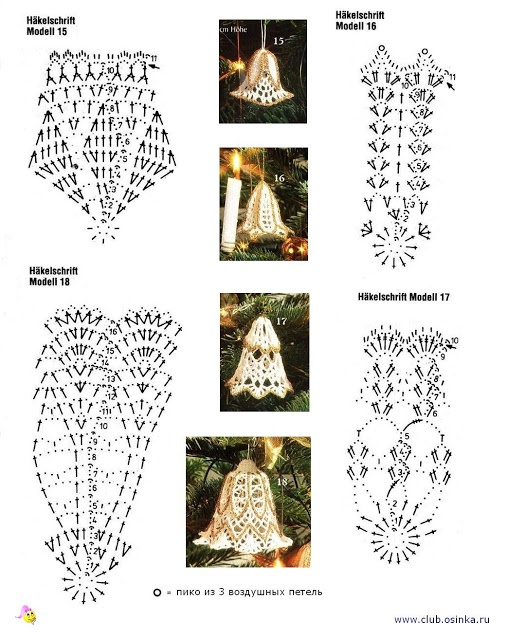 Crochet Bells with Diagrams • there are a number of other designs I like on this board.