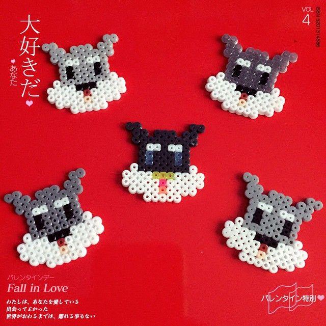 Schnauzer dogs hama beads